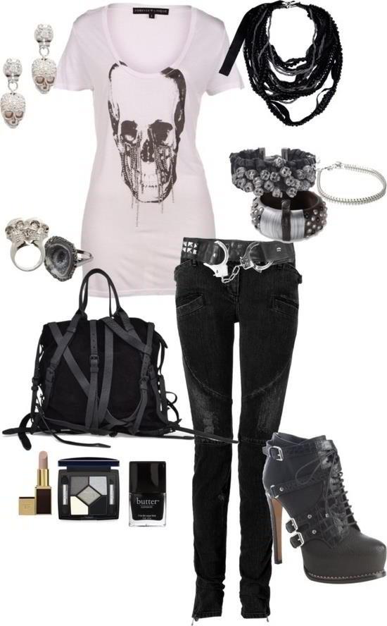 Embrace your rocker chic!<--What that says.  #rockerchic #fashion
