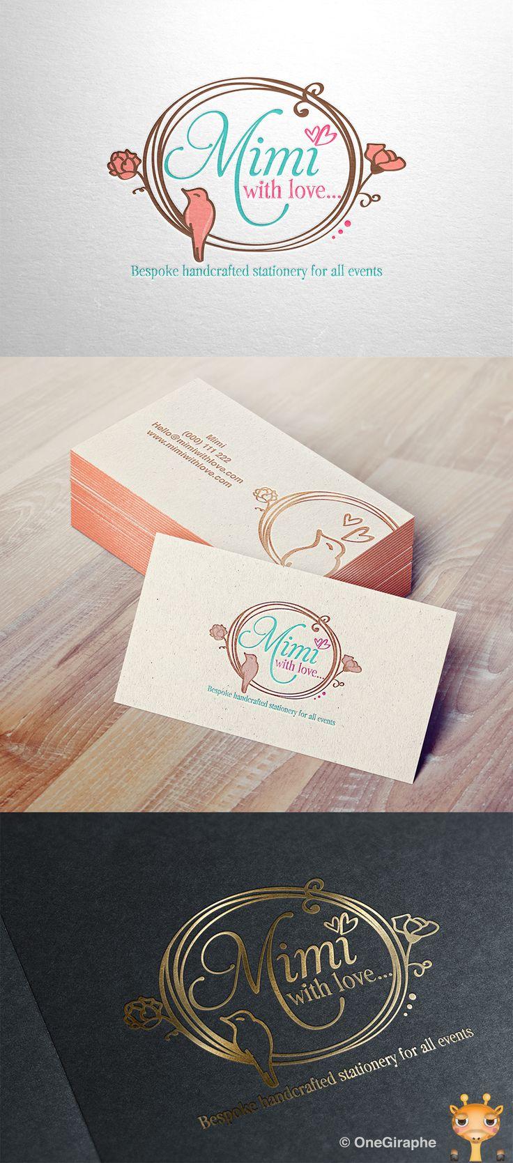 #logo #logodesign #design #behance #logopond #brandstack #logostore #graphic #brand #handmade #handcrafted #crafts #bird #birds #flower #cute #sweet