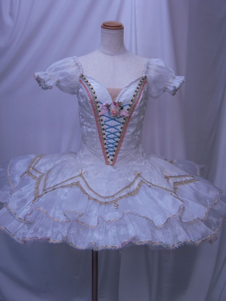"""Exclusive Collection 2015! This tutu is one of the most delightful creations! As fresh as a morning breeze, this extra feminine bell-shaped tutu has been created for the wedding scene in the ballet """"C"""