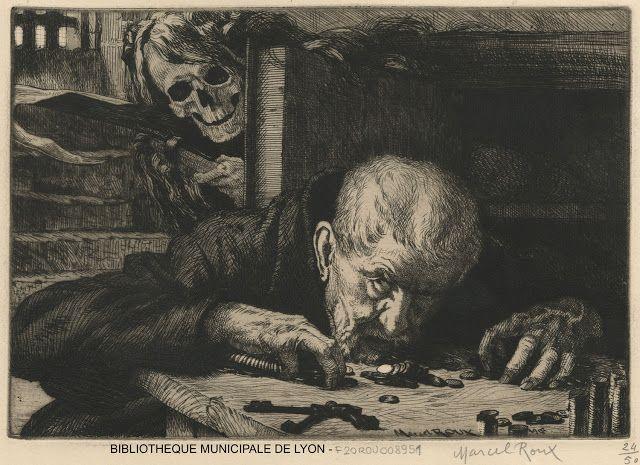Marcel Roux (1878-1922), L'Avare (Ceux qu'elle vole) - 1905