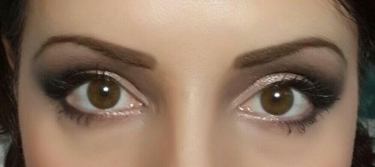 Variation on a smokey eye with blush inside corners