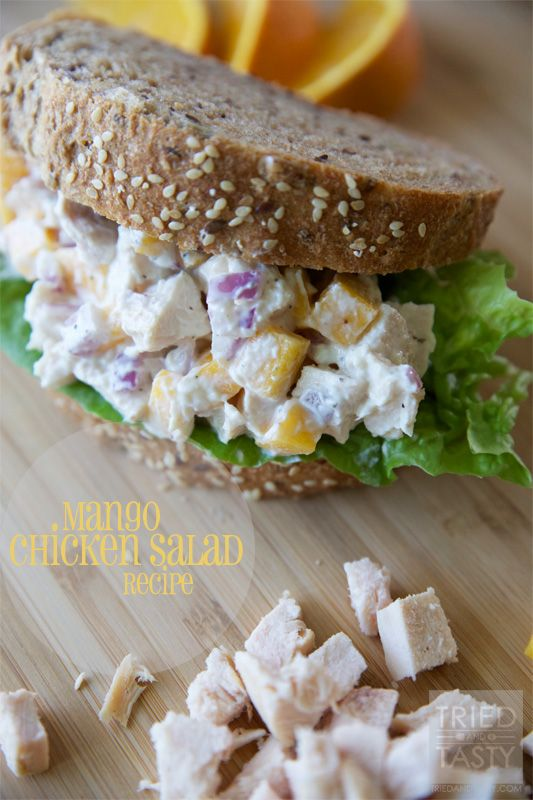 Mango Chicken Salad Sandwiches on MyRecipeMagic.com