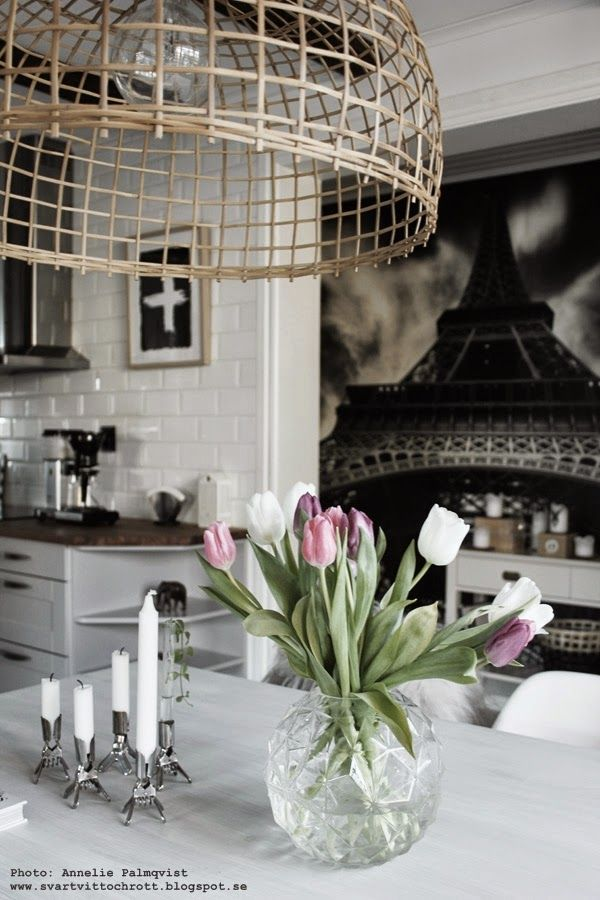 Tulips in the kitchen