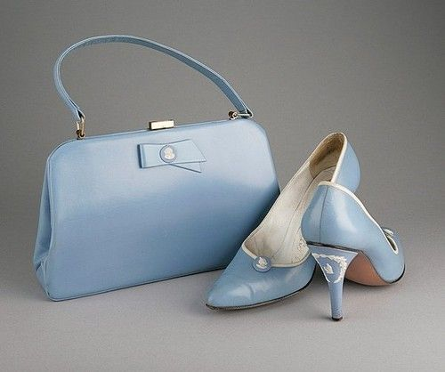 Rayne's most famous shoe design is probably the wedgwood jasperware heels made originally in 1958. The original design was a vestal within a wreath and a small cameo on the front, in blue, cream and green variations.