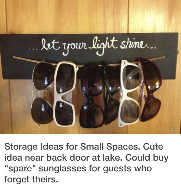 I love this idea!  I'm always losing my sunglasses!