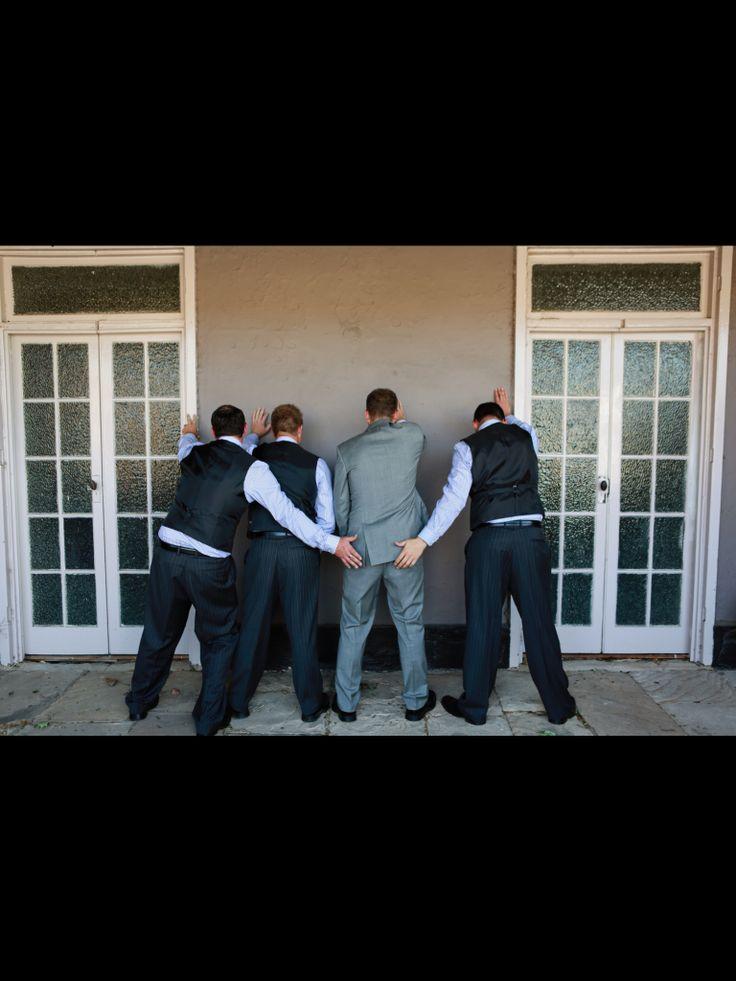 Funny groomsmen photo Photography by Karissa @ image photography