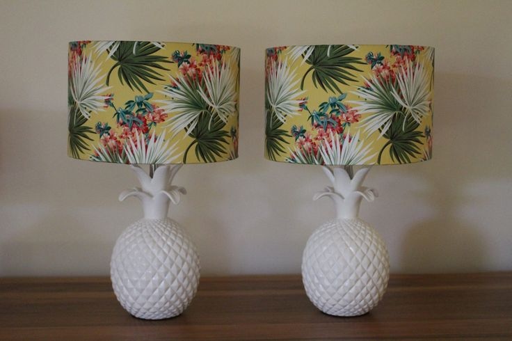 Beautiful matching pineapple lamps