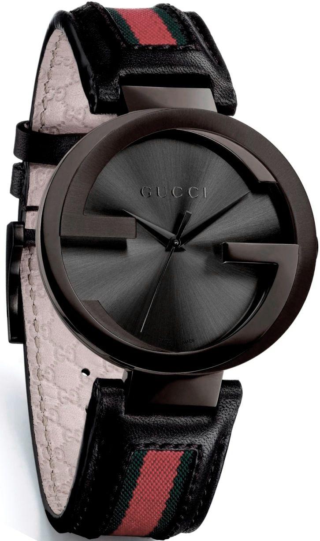 Gucci Men's #YA133206 Interlocking Iconic Bezel Anthracite Dial Watch