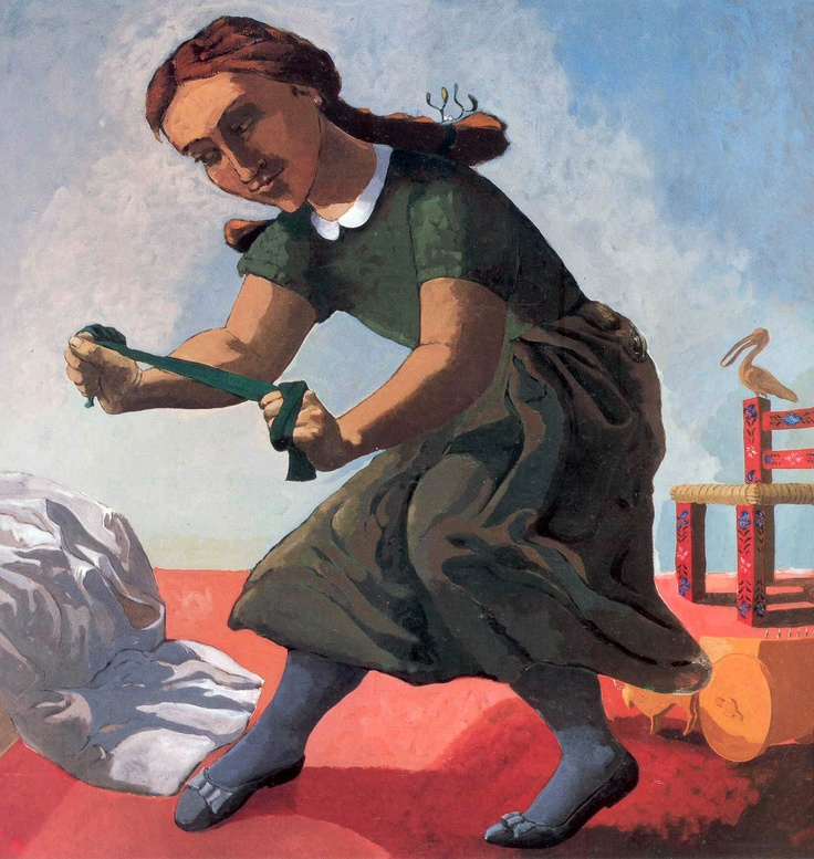 Paula Rego. The Little Murderess, 1987. Acrylic on paper on canvas, 150 x 150 cm.