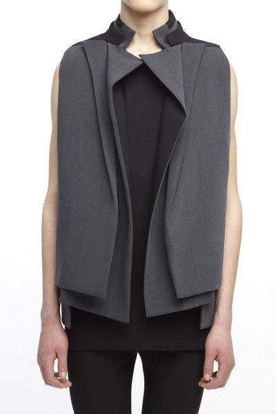 Layered Lapel Vest - unisex tailoring; contemporary fashion details // Rad Hourani