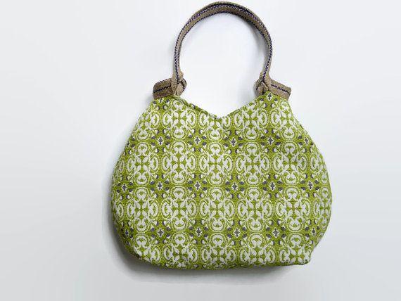 Groene handtas trendy schoudertas  gobelin door PippiesDesign
