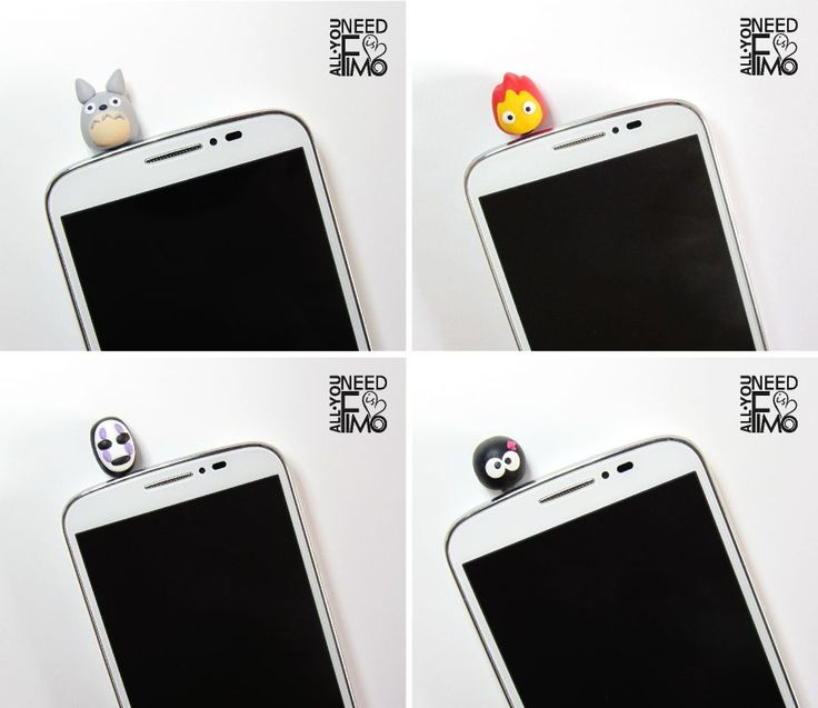 4x inspired studio ghibli stopper | antidust smartphone fimo | jack 3,5mm…