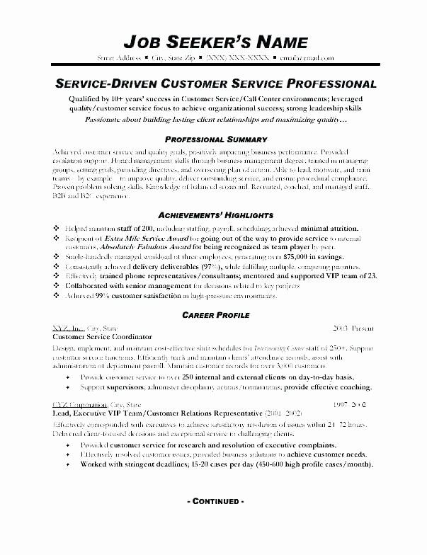 79 New Photos Of Resume Sample For Customer Service Agent