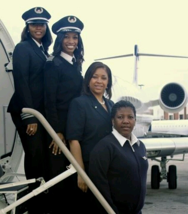 First All Black female flight crew! These are FLY Girlz for real!!!