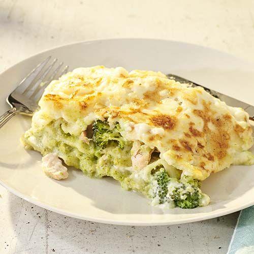 Lasagne met zalm en broccoli - https://www.colruyt.be/nl/recept/lasagne-met-zalm-en-broccoli