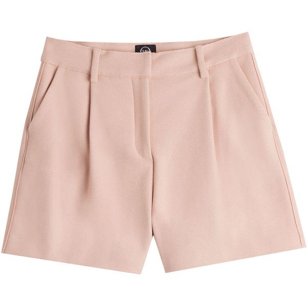 McQ Alexander McQueen Cotton Shorts (€235) ❤ liked on Polyvore featuring shorts, bottoms, pants, short, rose, high rise shorts, formal shorts, pink high waisted shorts, zipper shorts and pink cotton shorts