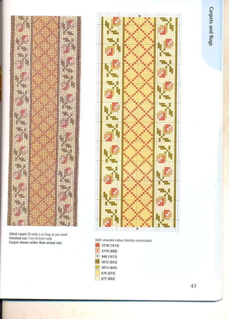 cross stitch carpets for dolls houses 39