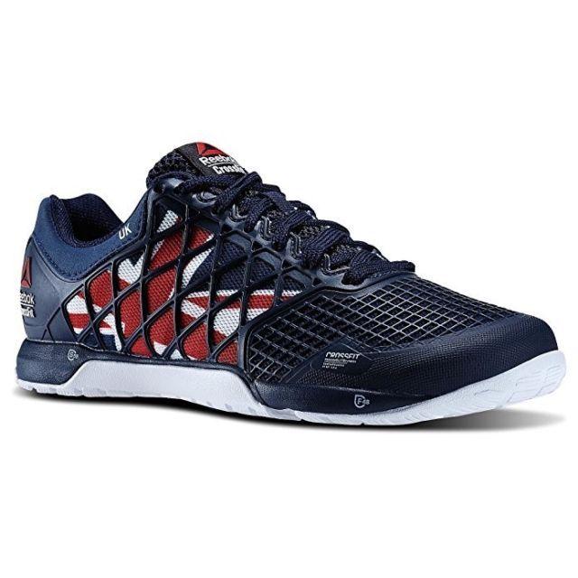 Reebok Men's Crossfit Nano 4.0 Training Shoe 8 Men Navy Red White Blue UK New