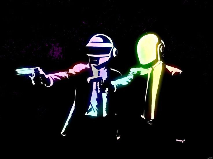 Daft Punk Криминальное Чтиво Музыка Стены Стикеры Искусство Огромный Печати Плаката TXHOME D9009
