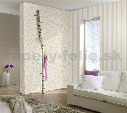 Vliesové tapety na stenu Ornamental Home - ornament svetlo hnedý | tapety-folie.sk