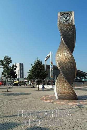 Stratford modern interchange station forecourt and clock tower