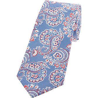 Blue Silk Paisley Tie