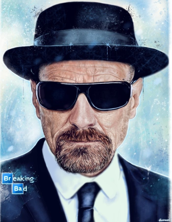digital portrait of Walter White(Heisenberg) from AMC Breaking Bad.