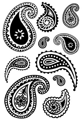 Ordinaire Black And White Paisley