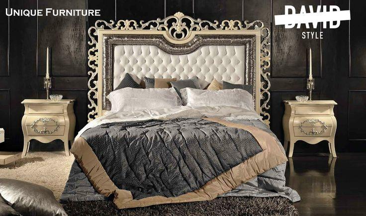 Letto barocco lusso Luxury bed Cod  DMS804 #luxurybedroommadeinitaly #italybaroquebed #villasfurnitureitaly