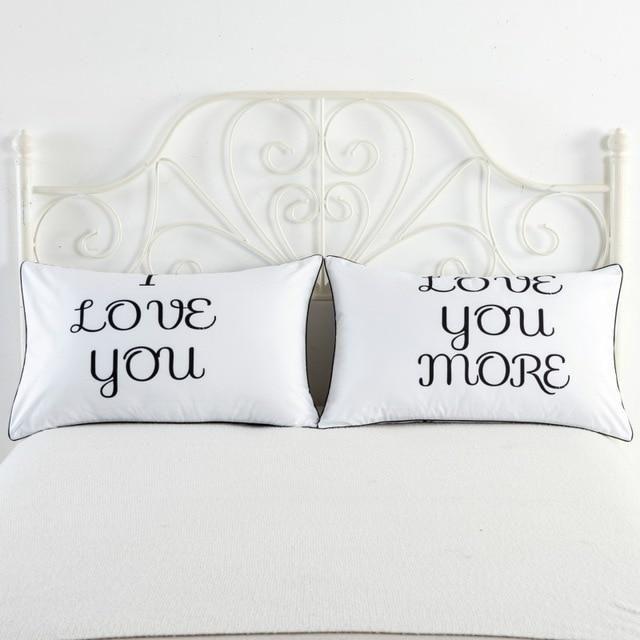 Double Bed Pillowcases Rectangle Pc02 48 74cm Pillow Case Couple
