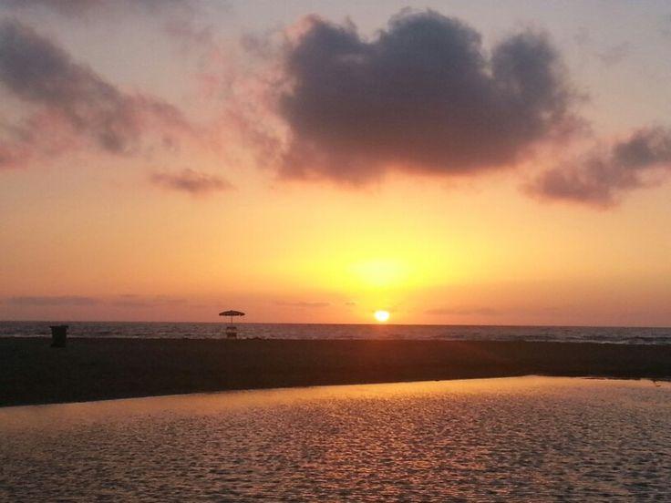 Sunset on Forgia river ...and sea!!