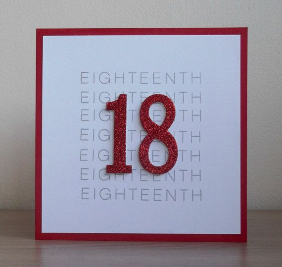 17 best ideas about 18th Birthday Cards – Handmade 18th Birthday Card