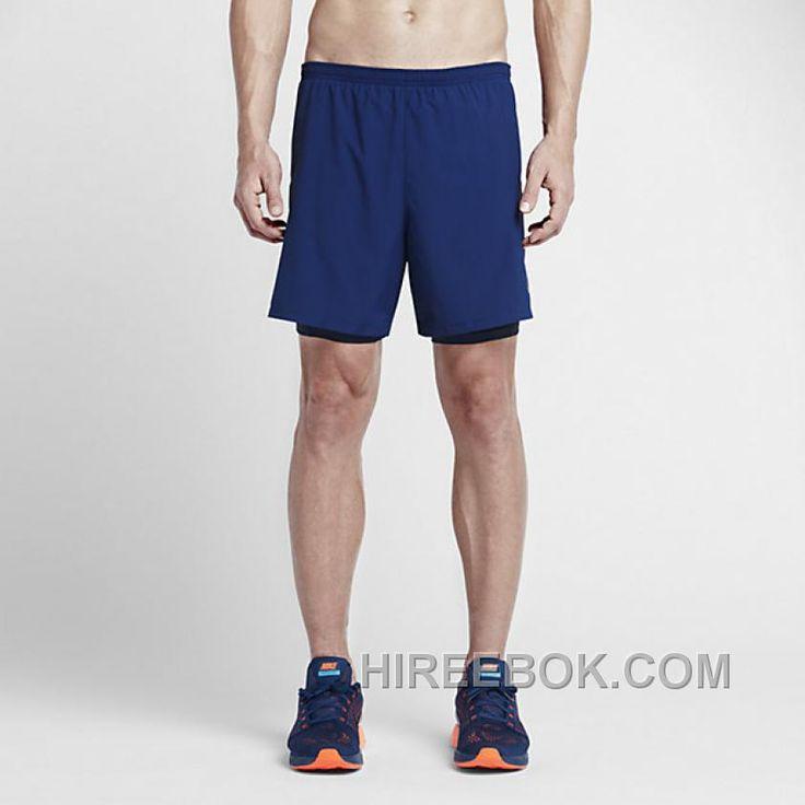 Nike 9 Distance Tief Königliche BlauObsidian  Running Shorts