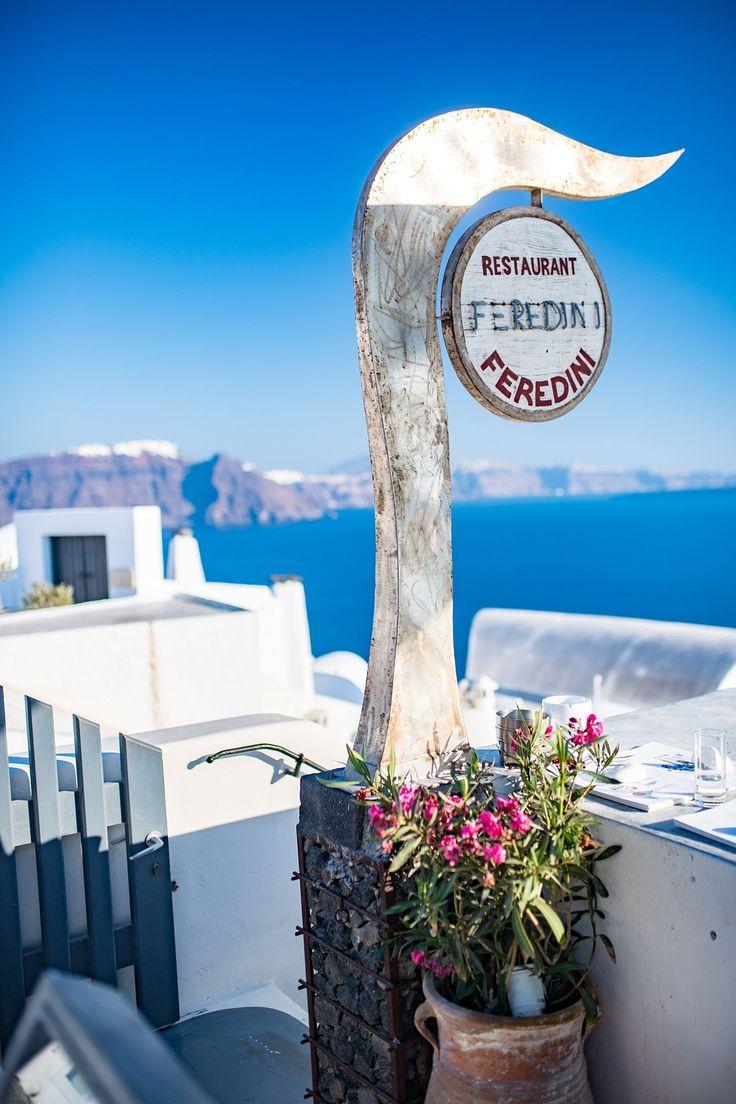 Feredini Restaurant, Oia, Santorini