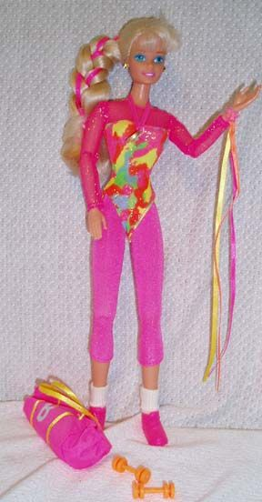 Gymnastics Barbie! Definitely my fav Barbie back in the day... all the other Barbies quickly took a backseat once she arrived lol