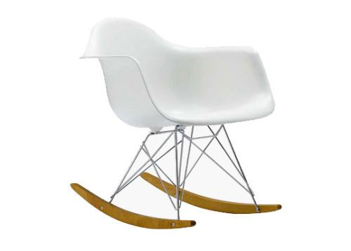 Stuhl Modernes Design Schaukelstuhl Eiffel Esszimmerstuhl Kunststoff Holz
