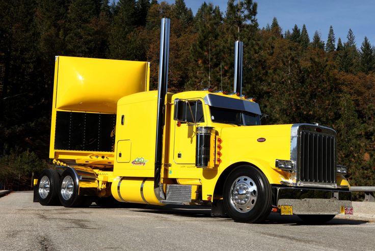 Bruce Geig's custom Peterbilt 379 in Grass Valley Ca.   Location Big Rigs