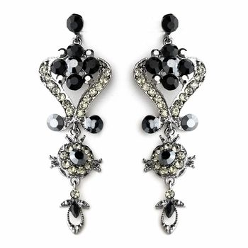18 best prom earrings images on pinterest prom earrings crystal dramatic black and clear crystal earrings mozeypictures Image collections