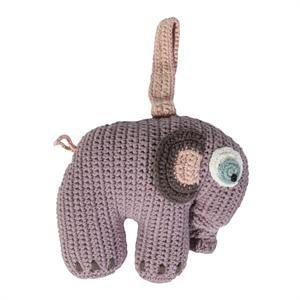 Hæklet elefant fra Sebra med musik