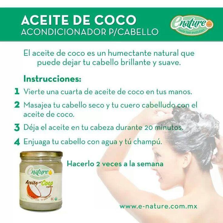 Aceite de coco como tratamiento capilar