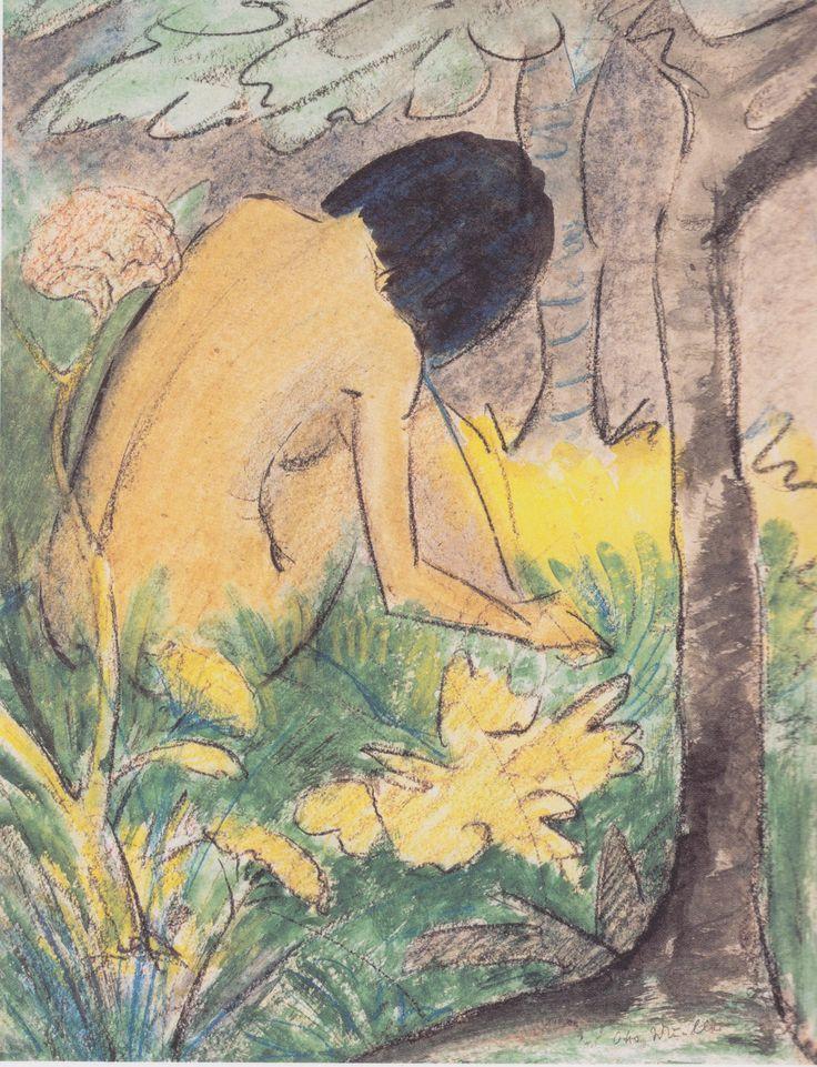 Otto Mueller (1874-1930) was een Duits schilder en lithograaf die deel uitmaakte van de expressionistische beweging 'Die Brucke'.  Mueller was een van de meeste lyrische Duitse expressionistische schilders. Centraal thema in zijn werk was de eenheid van mens en natuur. Hij is vooral bekend vanwege zijn naakten en schilderijen van zigeunervrouwen.