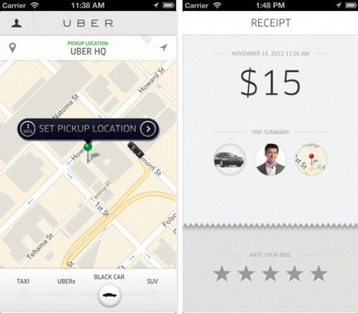 Need a cab? Use Uber to request a driver, pay the driver and rate the experience, all in-app.