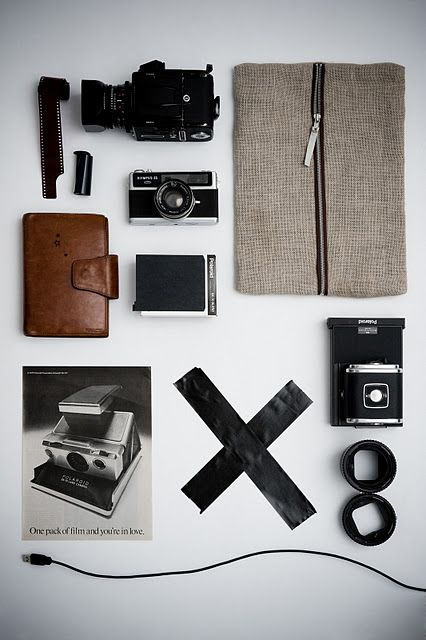 Photography Kits, Inspiration, Style, Mood Boards, Survival Kits, Group Shots, Vintage Cameras, Collection, Design