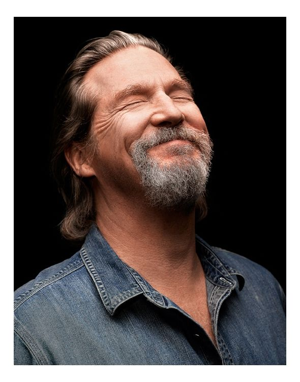 This photo of Jeff Bridges shows exactly how I feel when I see him.