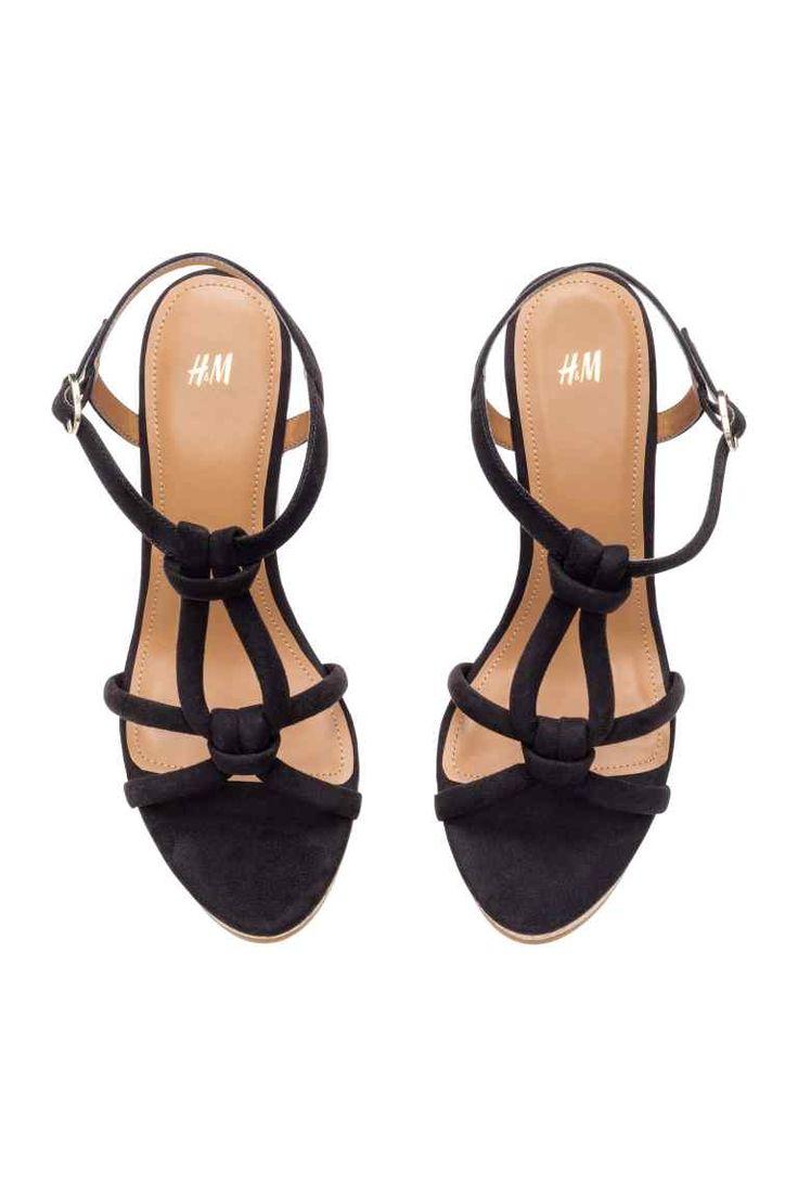 Sandálias com salto de cunha | H&M