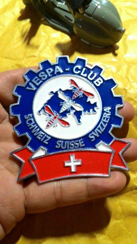 Badge vespa club suisse  Size. 6.5 to 7.5cm