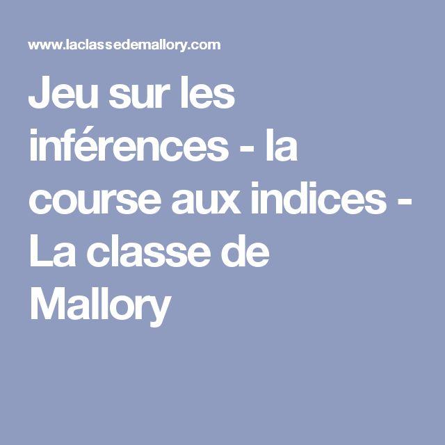 Jeu sur les inférences - la course aux indices - La classe de Mallory