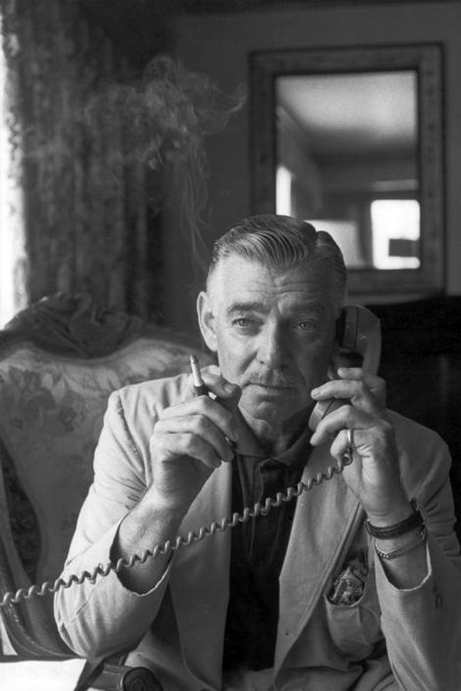 1960. Clark Gable, by Henri Cartier-Bresson.