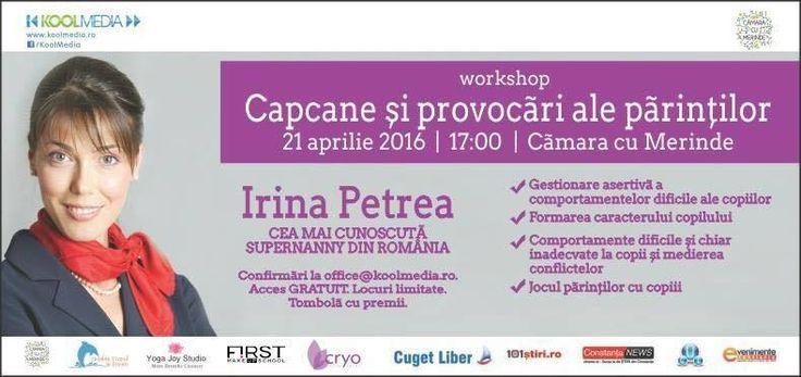 """Nu uitati de workshopul """"Capcane si provocari ale parintilor"""" - 21 Aprilie ora 17:00"""