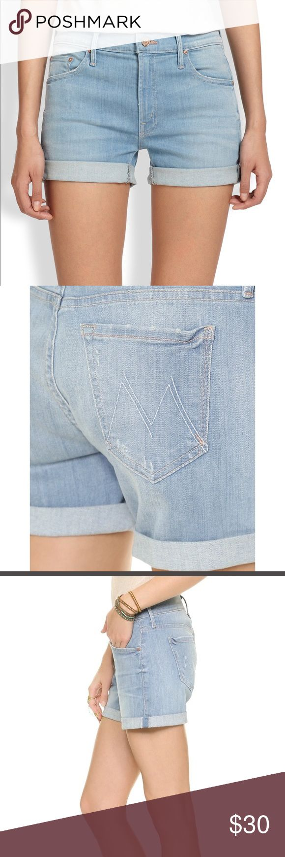 Mother Dropout cuff short beach house #9 Light denim shorts with roll up cuffs. Made of very soft denim! These shorts are very comfy and flattering...perfect for the beach! MOTHER Shorts Jean Shorts